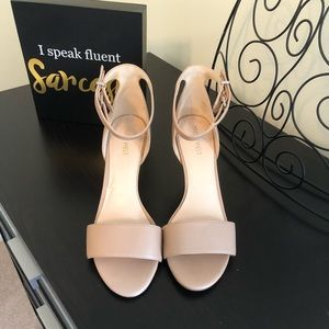 None West Pink Nude Heels!